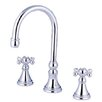 <strong>Elements of Design</strong> Madison Double Handle Deck Mount Roman Tub Faucet Trim Knight Cross Handle