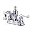 <strong>Elements of Design</strong> Vintage Centerset Bathroom Faucet with Double Buckingham Lever Handles
