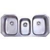"Elements of Design 50.38"" x 20.5"" Rancho Undermount Offset Triple Bowl Kitchen Sink"