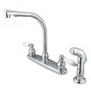 <strong>Victorian Double Handle Centerset High Arch Kitchen Faucet with Por...</strong> by Elements of Design