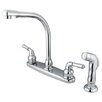 Elements of Design Magellan Double Handle Centerset Kitchen Faucet