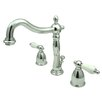 <strong>Elements of Design</strong> Widespread Bathroom Faucet with Double Georgian Lever Handles