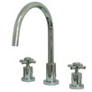 Elements of Design South Beach Double Cross Handle Widespread Kitchen Faucet