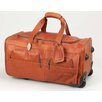 "<strong>Claire Chase</strong> 22"" Leather 2-Wheeled Carry-On Duffel"