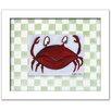 Doodlefish Sea Life Crab Framed Art