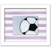 Doodlefish Sports Soccer Ball Framed Art