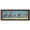 Doodlefish Jungle Safari Parade Canvas Art
