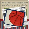 <strong>Doodlefish</strong> Sports Basketball in the News Giclee Canvas Art