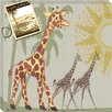 <strong>Doodlefish</strong> Safari Giraffe Giclee Canvas Art
