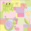 Doodlefish Frogs Nature Girl Giclee Canvas Art
