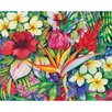 "<strong>Magic Slice</strong> 12"" x 15"" Tropical Floral Design Cutting Board"