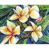 "Magic Slice 12"" x 15"" Plumeria Design Cutting Board"