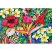 "Magic Slice 7.5"" x 11"" Tropical Floral Design Cutting Board"