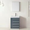 "Virtu Bailey 24"" Single Bathroom Vanity Set with Mirror"