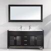 "Virtu Ava 63"" Double Bathroom Vanity Set with Mirror"