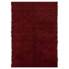 <strong>Flokati Burgundy Rug</strong> by Linon Rugs