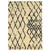 Linon Rugs Moroccan Marrakesh Ivory/Black