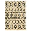 Linon Rugs Moroccan Mekenes Ivory & Black Area Rug