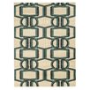 Linon Rugs Roma Bridle Grey/Turquoise Rug
