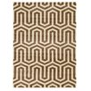 Linon Rugs Roma Tangent Ivory/Beige Area Rug