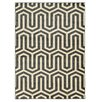 Linon Rugs Roma Tangent Charcoal/Grey Area Rug
