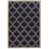 Linon Rugs Innovations Reversible Navy Quatrefoil Outdoor Area Rug