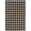 Linon Rugs Salonika Houndstooth Black Area Rug