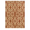 Linon Rugs Le Soleil Terracotta/Ivory Outdoor Rug