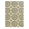 Linon Rugs Le Soleil Ivory & Blue Outdoor/Indoor Area Rug