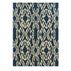 Linon Rugs Le Soleil Navy/Ivory Outdoor Rug