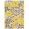 Linon Rugs Trio Grey/Yellow Area Rug