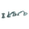 Fima by Nameeks Elizabeth Double Handle Deck Mount Thermostatic Bath Tub Faucet with Hand Shower