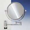 <strong>Windisch by Nameeks</strong> Double Face Wall Mounted 5X Magnifying Mirror with Two Arm and Two Brazo