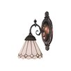 <strong>Landmark Lighting</strong> Mix-N-Match 1 Light Wall Sconce with Glass Shade