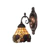 <strong>Landmark Lighting</strong> Mix-N-Match 1 Light Wall Sconce with Grapevine Glass Shade