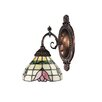 Mix-N-Match 1 Light Wall Sconce with Lotus Design Glass Shade