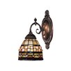 <strong>Landmark Lighting</strong> Mix-N-Match 1 Light Wall Sconce with Geometric Design Glass Shade