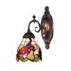 Mix-N-Match 1 Light Wall Sconce with Fruit Design Glass Shade