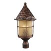 <strong>Landmark Lighting</strong> Rustica 3 Light Outdoor Post Lantern