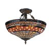 Jewelstone 3 Light Semi Flush Mount
