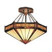 <strong>Landmark Lighting</strong> Filigree 3 Light Semi Flush Mount