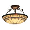 Diamond Ring Semi Flush Mount