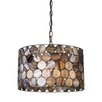 <strong>Landmark Lighting</strong> Capiza 3 Light Drum Pendant