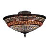 "<strong>8"" Jewelstone 3 Light Semi Flush Mount</strong> by Landmark Lighting"