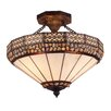 <strong>Landmark Lighting</strong> Stone Filigree 3 Light Semi Flush Mount