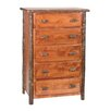Hickory 5 Drawer Chest