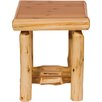<strong>Fireside Lodge</strong> Traditional Cedar Log End Table