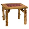 Fireside Lodge Traditional Cedar Log Game Table