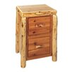 Traditional Cedar Log File Cabinet with Two Drawer