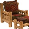Traditional Cedar Log Lounge Chair